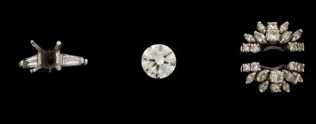 Catherine Greig's diamond engagement-style ring