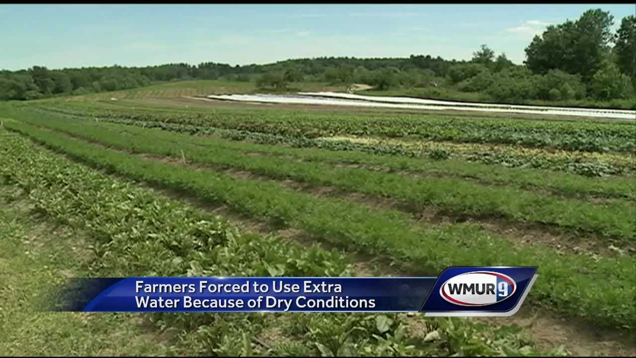 Drought conditions are continuing in New Hampshire, and farmers are trying to cope at a time of year when local produce begins appearing in farm stands.