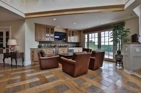 A look at one of the home's many living areas.