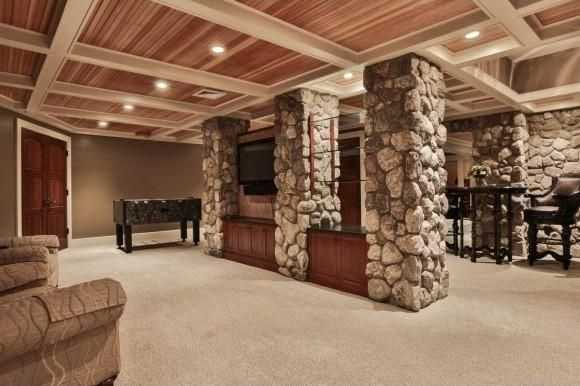 A look inside the home's finished lower-level.