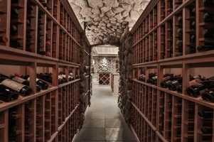 The wine cellar holds 8,000 bottles.