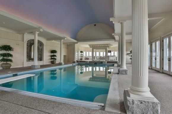 A look at he home's large indoor pool.