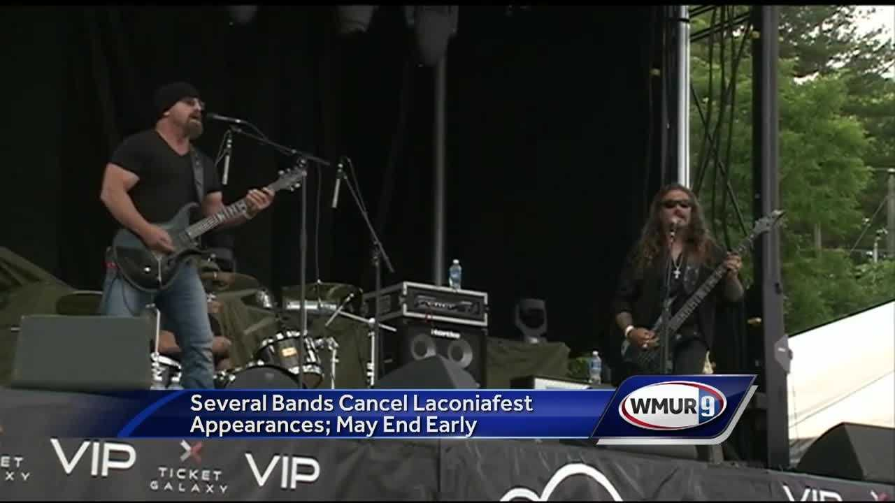 The Laconiafest concert series taking place during Motorcycle Week will likely end early after several bands canceled their performances amid some ongoing issues.