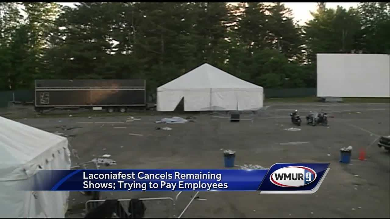 The stage is gone... and Laconiafest is too.