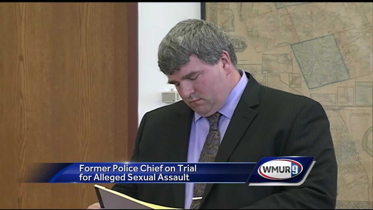 A former Canterbury police chief accused of sexually assaulting a 16-year-old girl went on trial Monday.