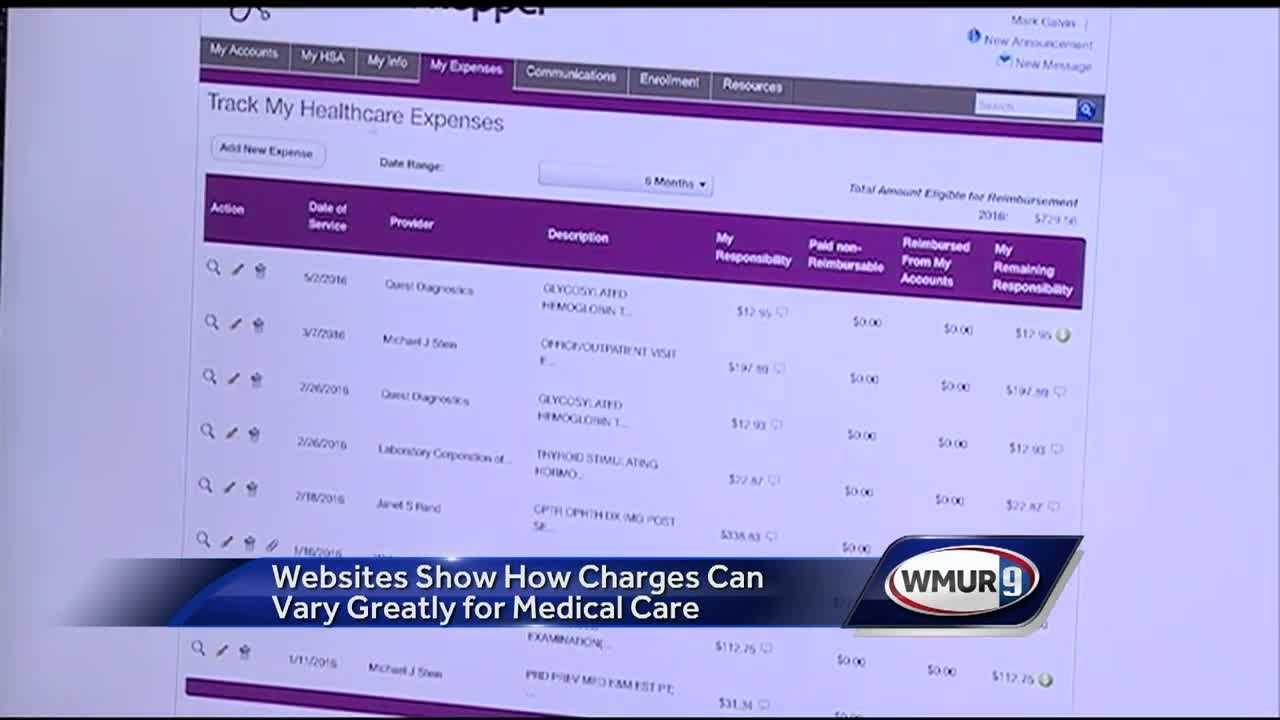 Websites show how charges can vary greatly for medical care