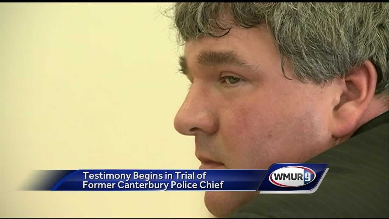 Boscawen police officers testified Tuesday in the trial of a former Canterbury police chief accused of sexual assault.
