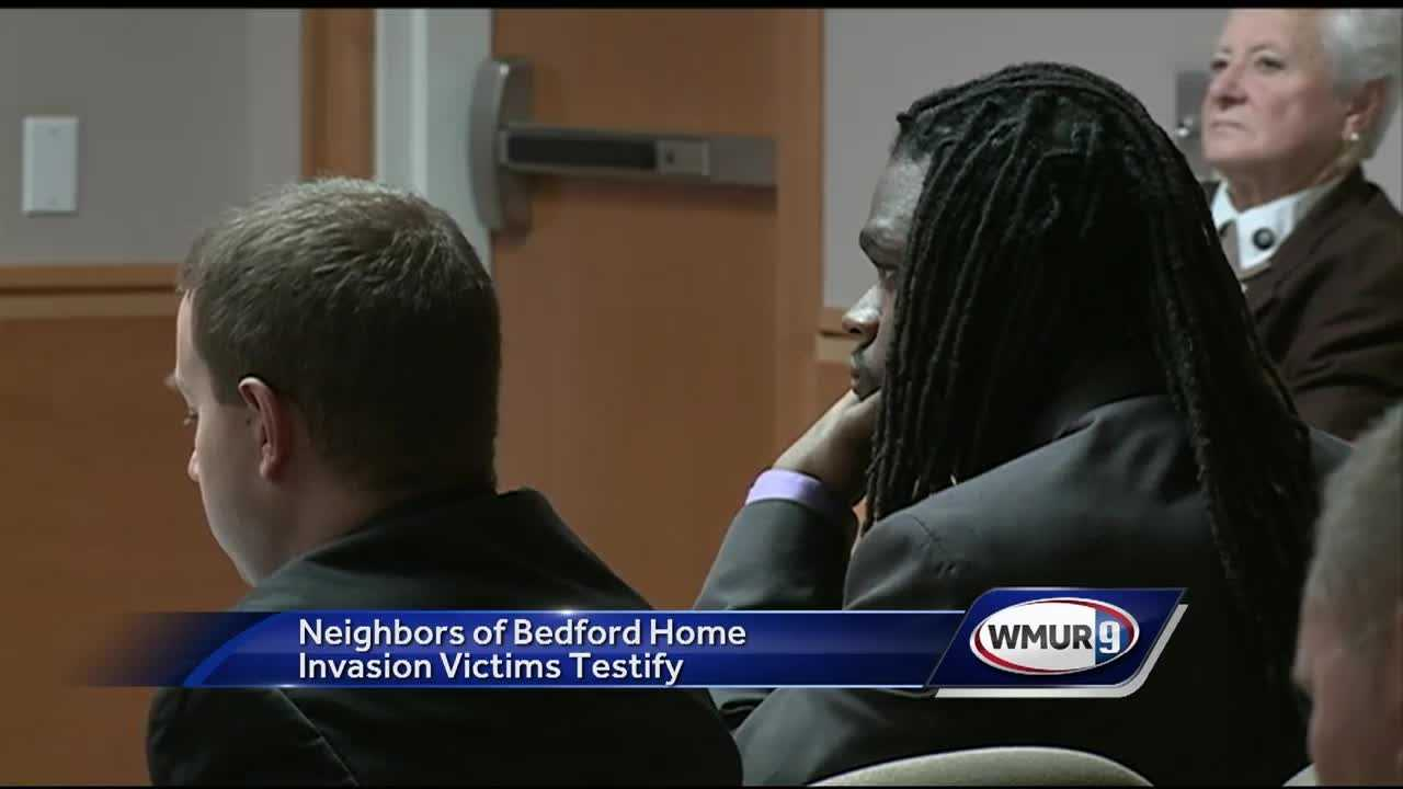The first people to have contact with a victim of a violent home invasion in Bedford testified Tuesday in the trial of the man accused of attacking the couple.