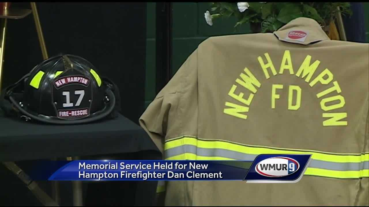 Dozens of first responders, family and friends turned out to honor a New Hampton firefighter who died in the line of duty.