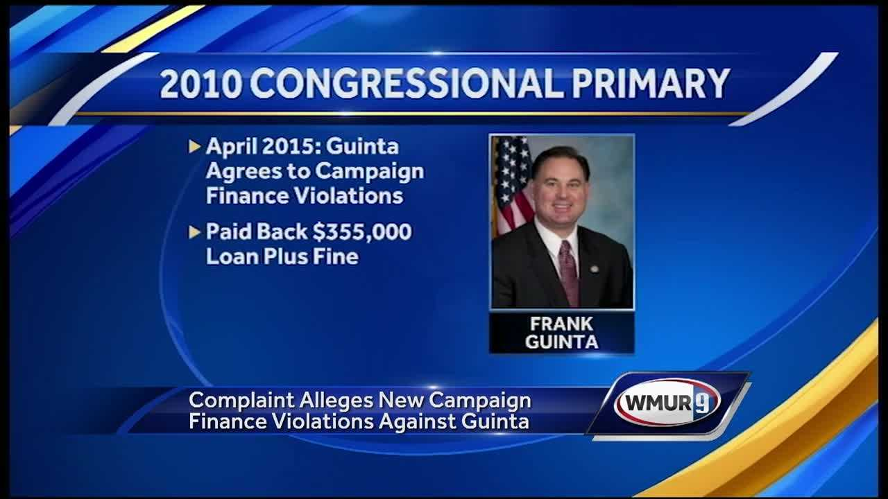 U.S. Rep. Frank Guinta is facing new allegations involving an issue that that has dogged him and his campaign for years: campaign finance violations.