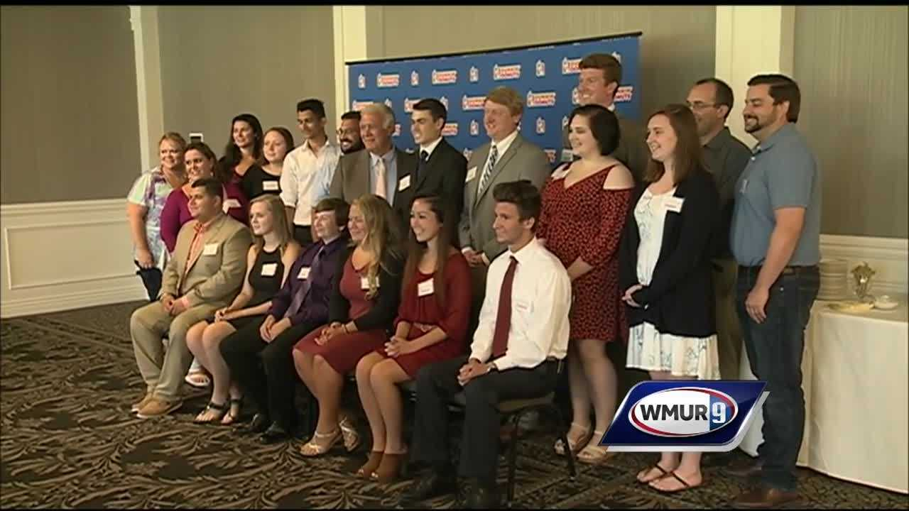This year, Dunkin' Donuts presented $2,500 each to 12 students.