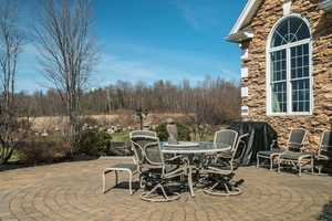Here's a look at the home's patio.