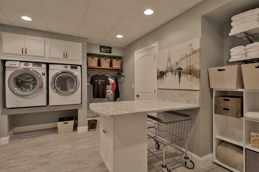 The home has a spacious laundry room.