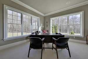 Here's a look at the home's office space.