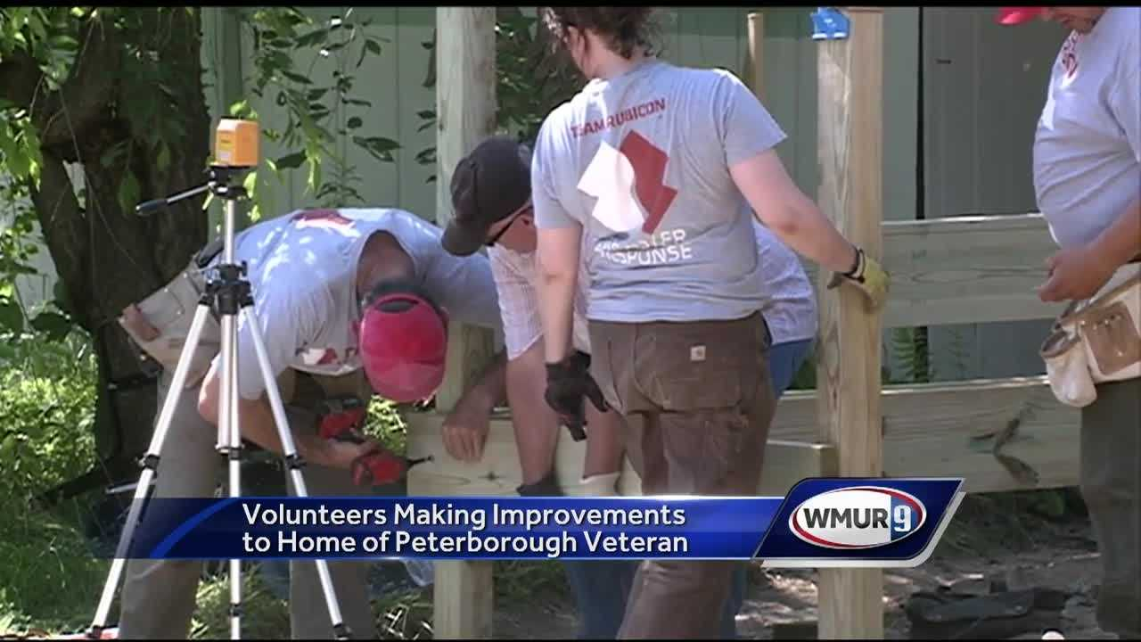 A team of volunteers is making repairs and improvements to a Peterborough veteran's home.