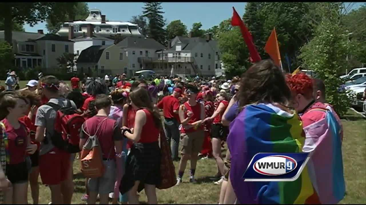 LGBT Community members gathered in Portsmouth for their annual pride celebration.