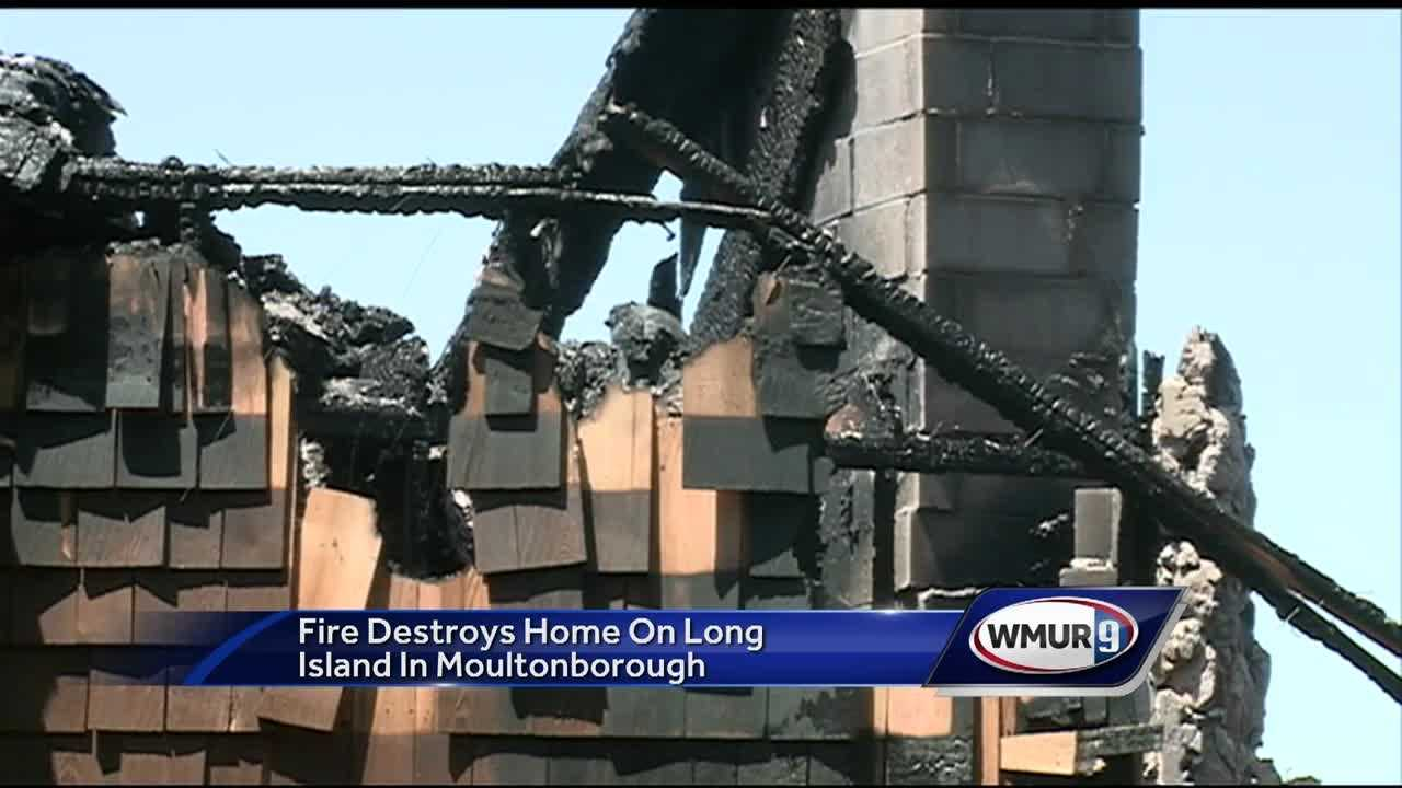 Fire Marshall's office is now investigating a fire that destroyed a house on Long Island in Moultonborough.