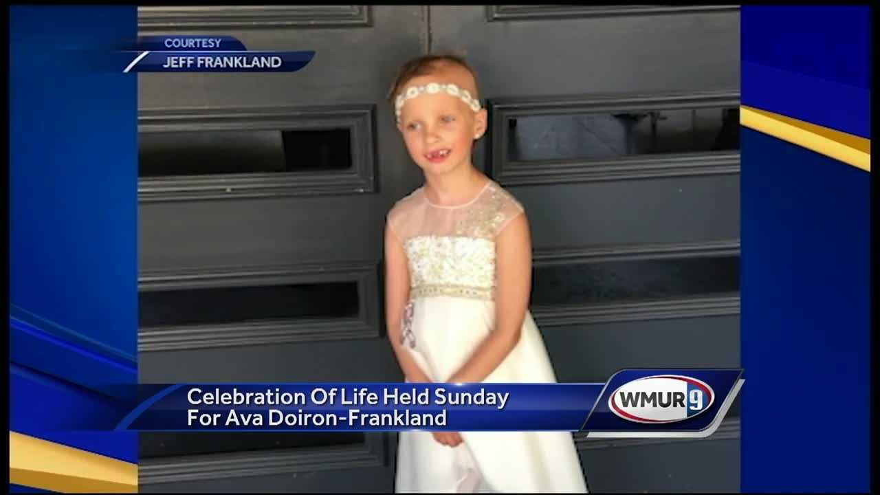 Hundreds of people spent Sunday morning at Windham High School to celebrate the life of a 7-year-old girl who passed away after a courageous battle with cancer.