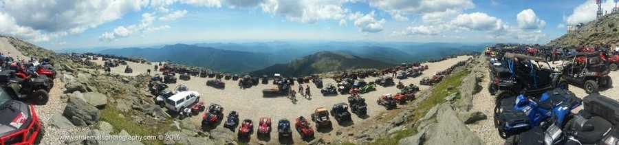 The Mount Washington Auto Road was open for ATVs Sunday as part of New Hampshire ATV Day.