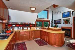 The home has a state-of-the-art chef's kitchen.