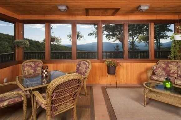 Here's a look at the home's screened porch.