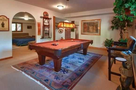 A look at the home's billiards room.