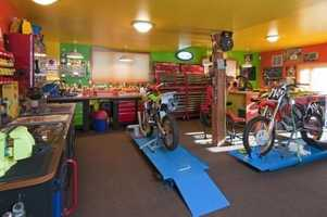 The home has a large workshop.