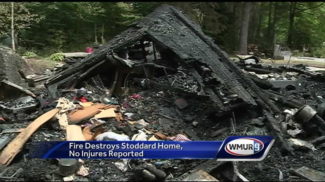 A cottage in Stoddard was destroyed by fire Friday night in the middle of a storm.