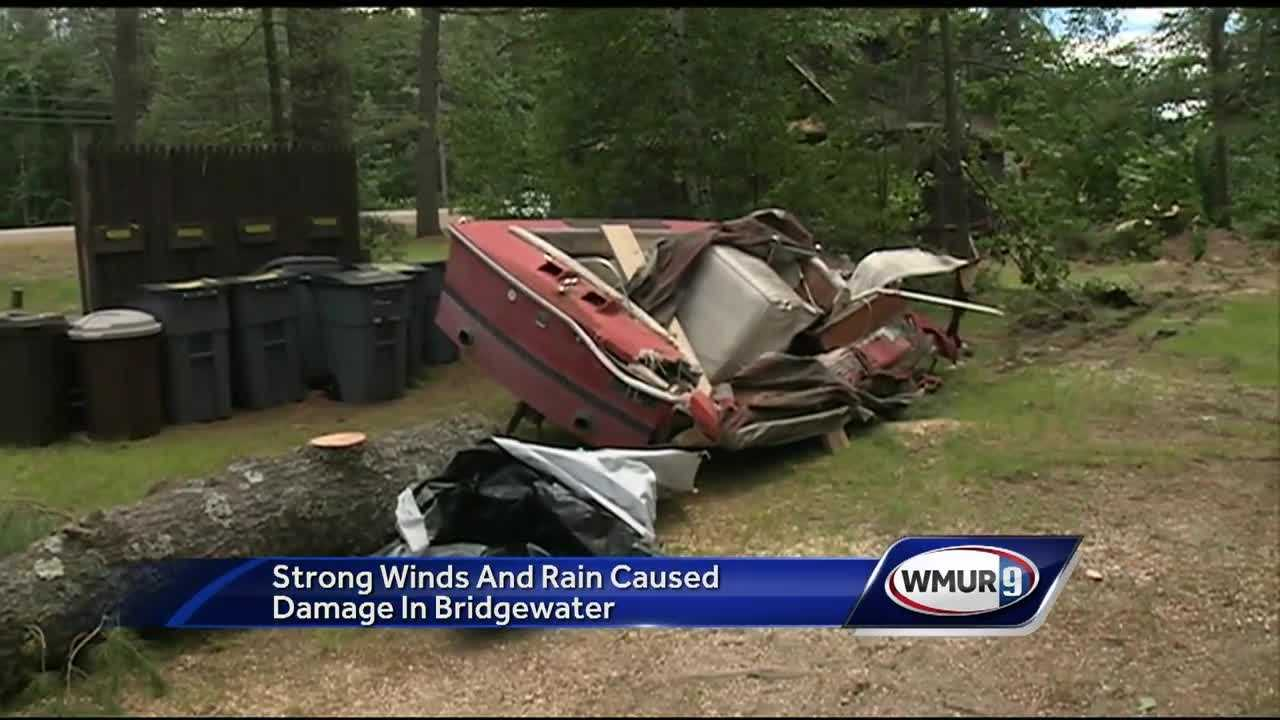 A campground in Bridgewater is cleaning up after getting hit by a powerful storm the night before.
