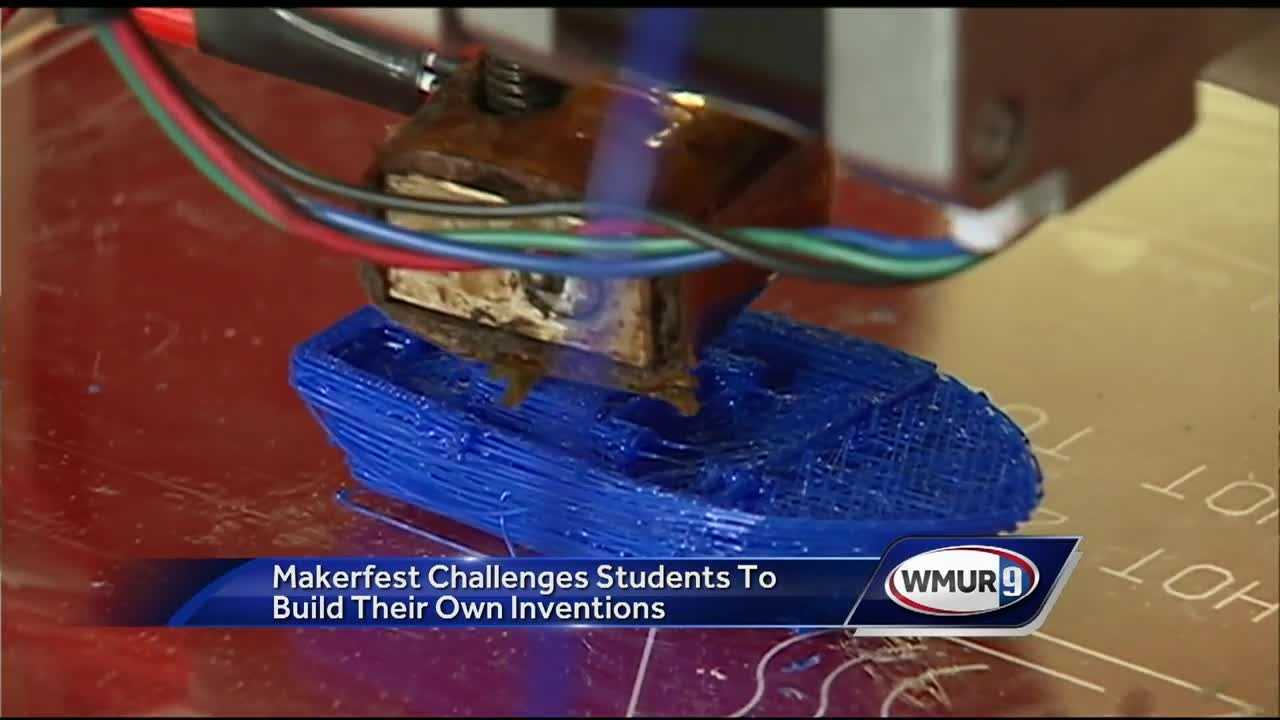Students challenged to build their own inventions at Make It Labs in Nashua.