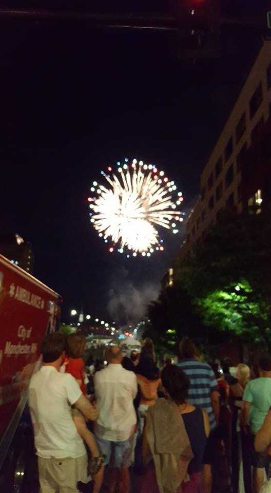 Manchester held its fireworks show in Arms Park on July 3.