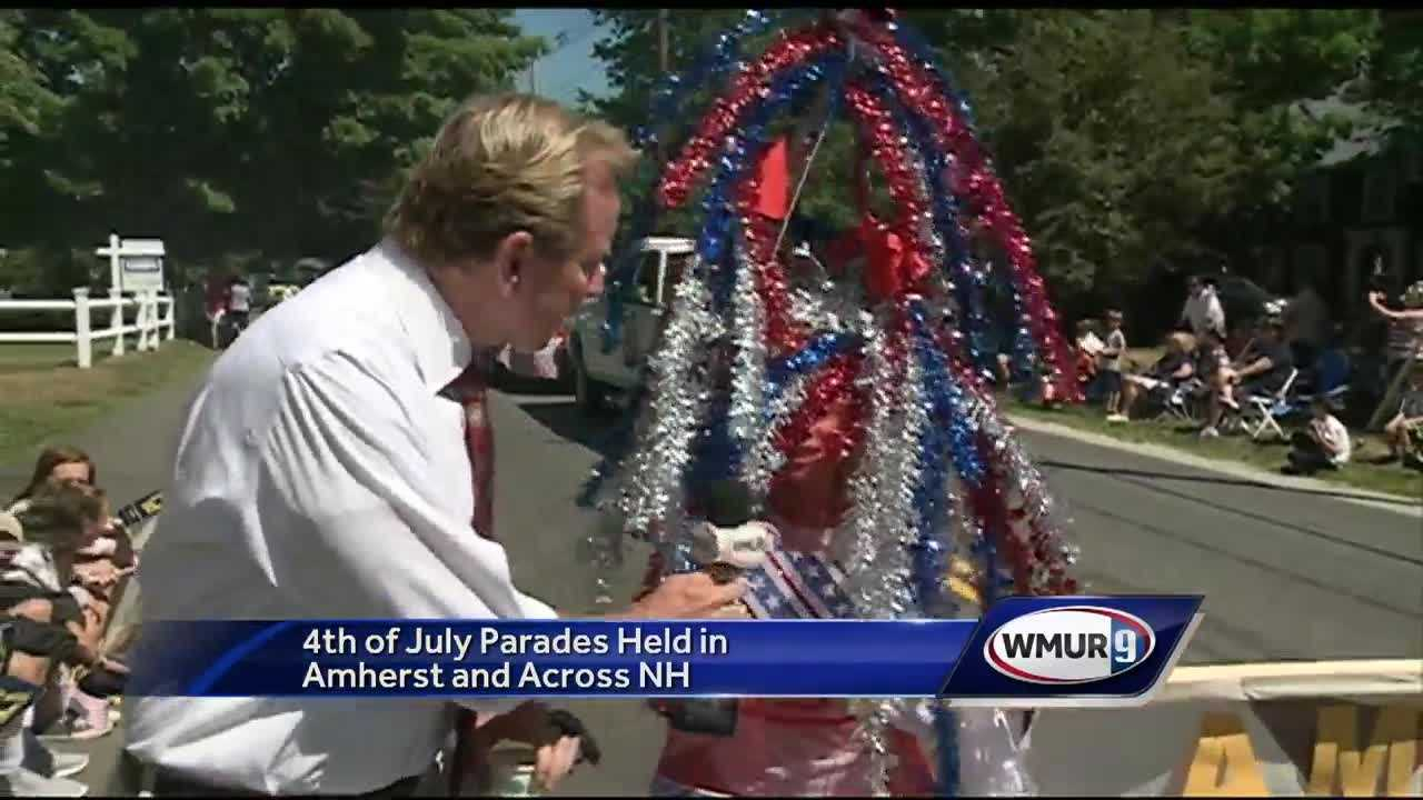 A perfect day, with a perfect crowd for a 4th of July parade in Amherst