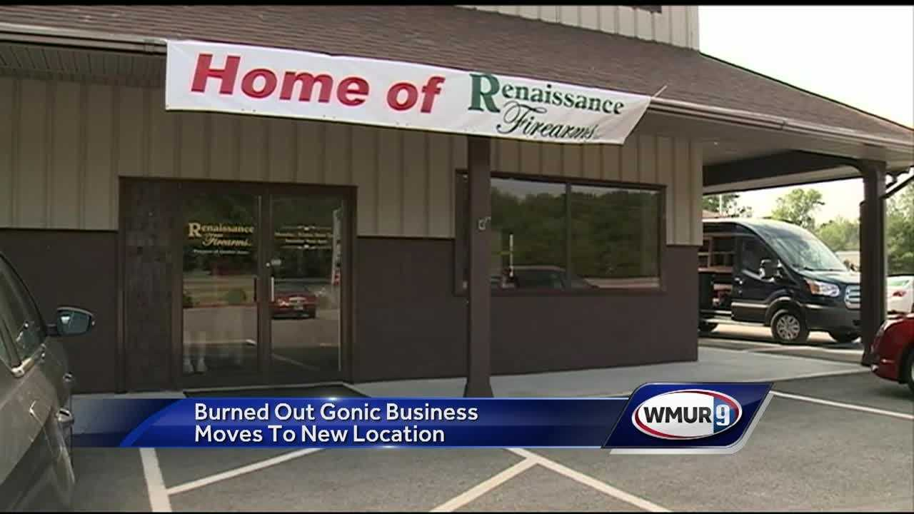 A Gonic business damaged in a fire last month is reopening in a new location.