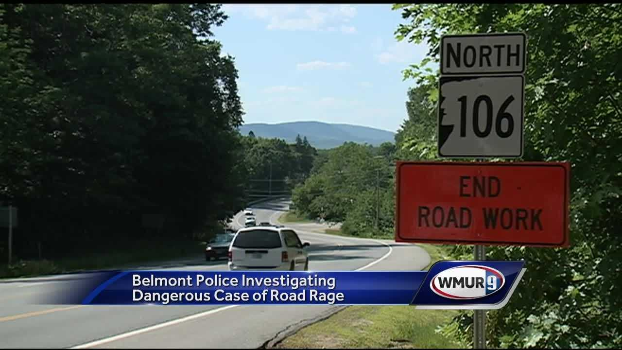 Belmont police are investigating what they're calling a violent case of road rage in which one driver is accused of firing gun at another.
