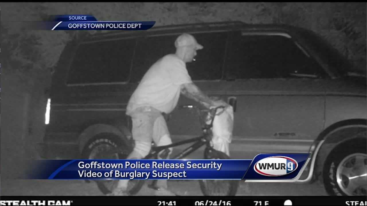"Police in Goffstown released surveillance video, hoping to identify a suspect in an ""unusual"" burglary."