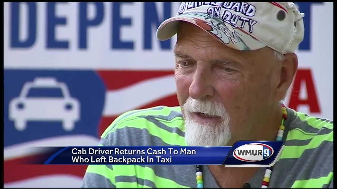 "Raymond ""Buzzy"" MacCausland is used to people leaving things in his cab, but nothing like the backpack filled with cash left in his back seat in Boston on Saturday"