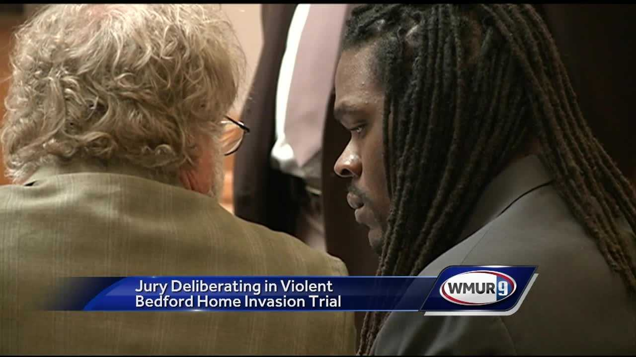 Jurors are deliberating the case of a man accused of assaulting a Bedford couple during a violent home invasion in 2012.