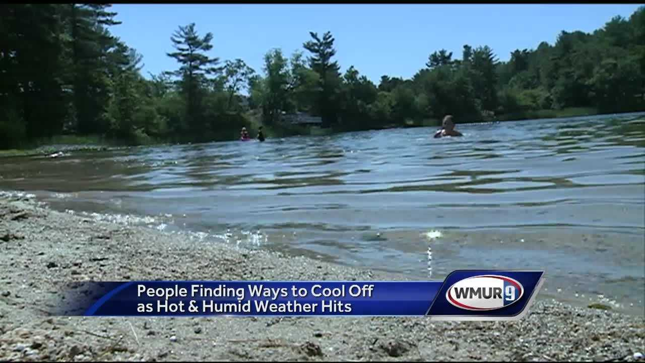 Granite Staters were trying to stay cool Wednesday after hot, humid weather moved in.