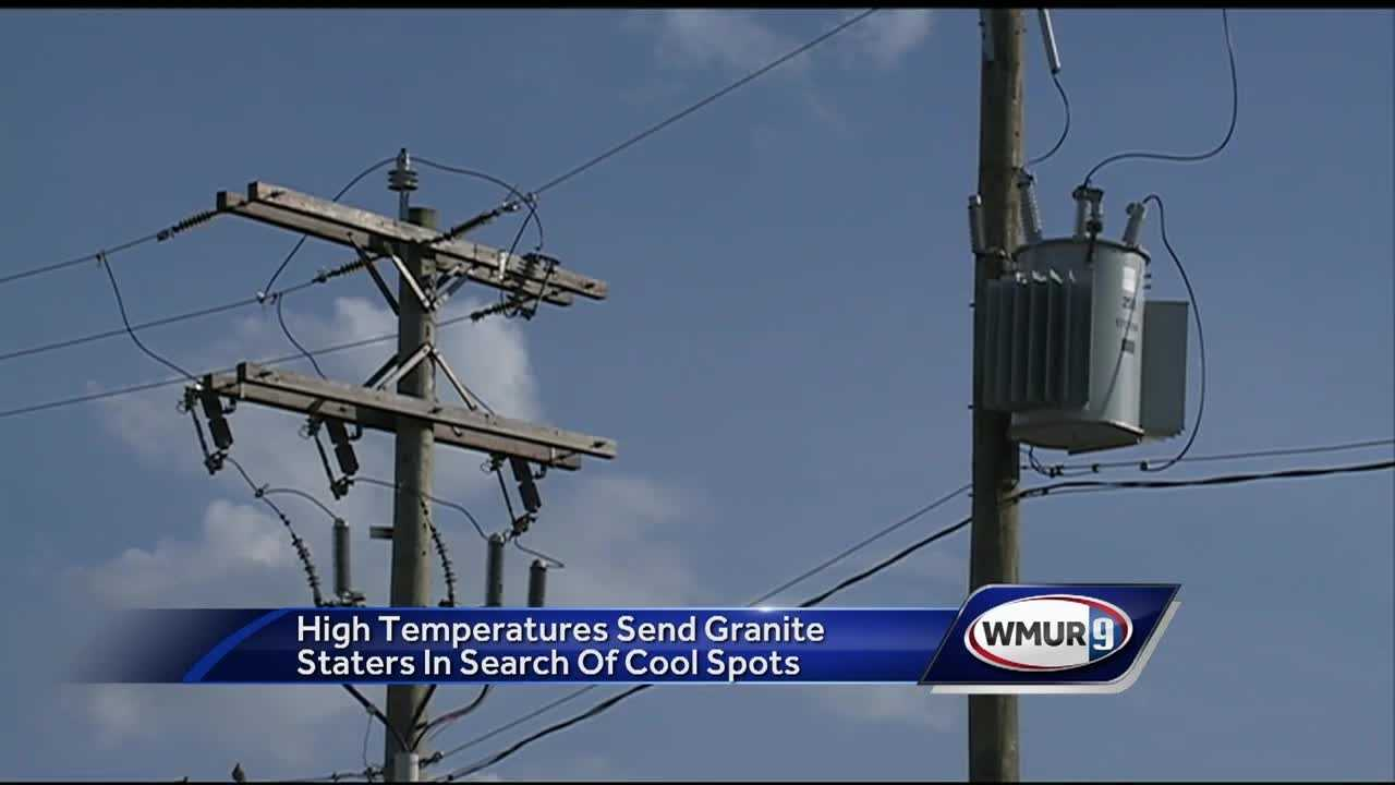 High temperatures send granite staters in search of cool spots