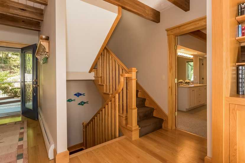 Classic hardwood floors are a nice feature.