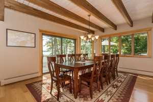 Here's a look at the home's dinning area.