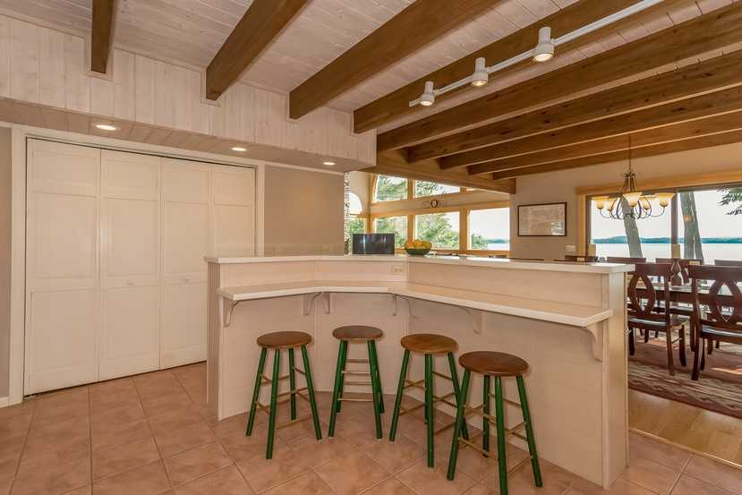 Here's a look at a bar-style seating area.