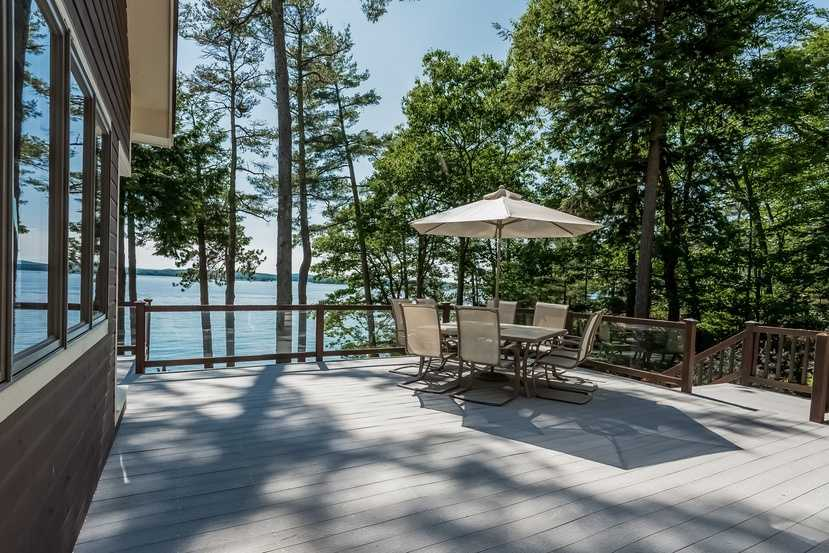 Here's a look at a seating area on the home's deck.