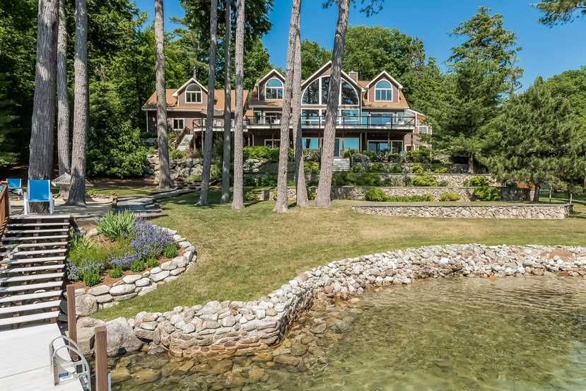 Another view of the home from the water's edge.