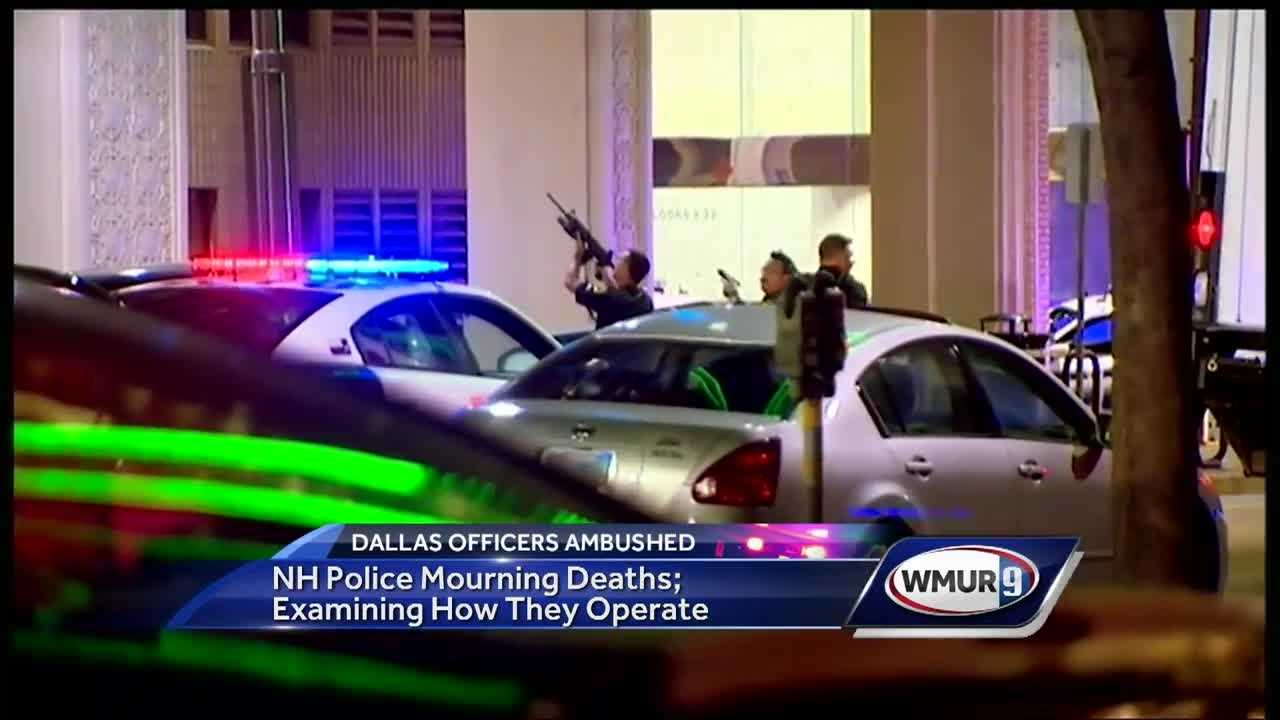 Police officers in New Hampshire said Friday they were examining the way they operate in light of the violence in Dallas in which five officers were killed.