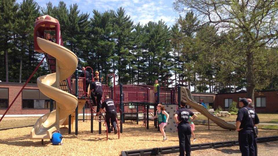 Merrimack officers responded to this playground to help make this play date memorable.