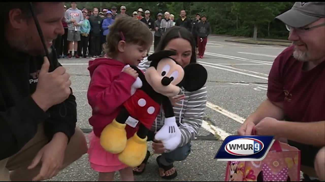 A Nashua girl was granted a trip to Disney after 2 years of battling a rare disease.