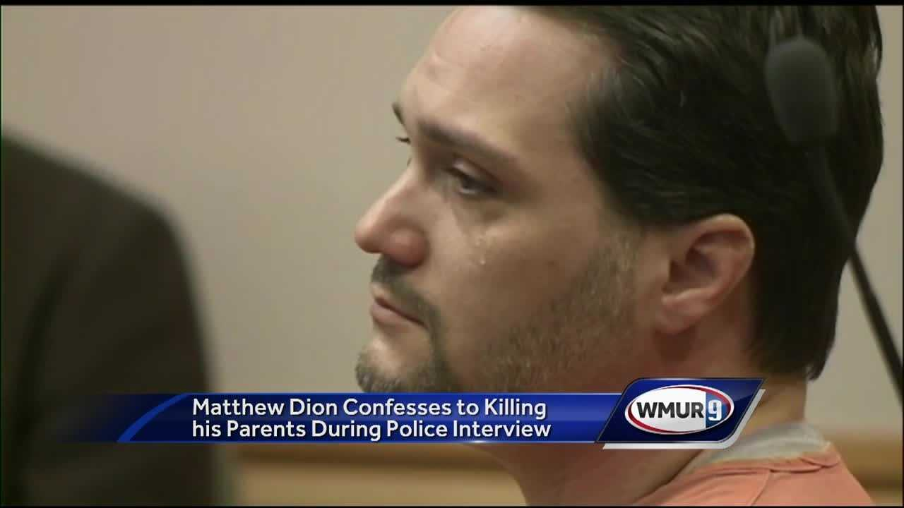 A man who admitted killing his parents and setting their home on fire showed little remorse when he confessed his crimes to police last year.