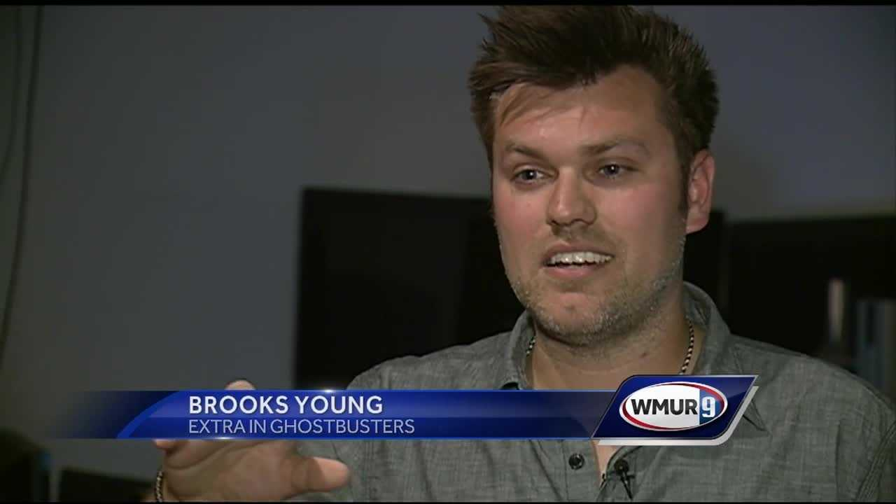 New Hampshire native Brooks Young scored a cameo role in the 'Ghostbusters' reboot, and he's sharing his experience with his home state.