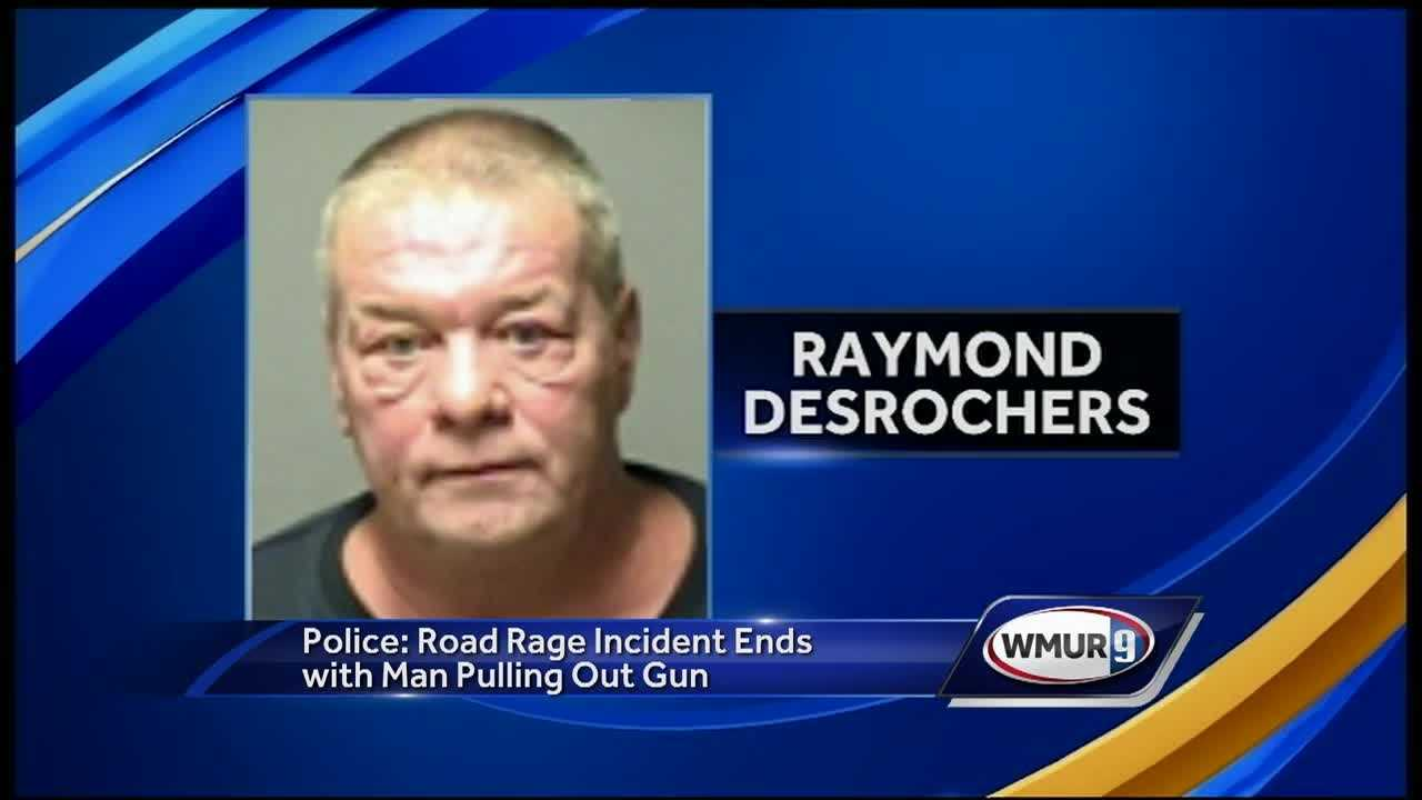 A Manchester man was arrested Monday night after he allegedly hassled a Candia couple before pulling out a gun during a road rage incident.